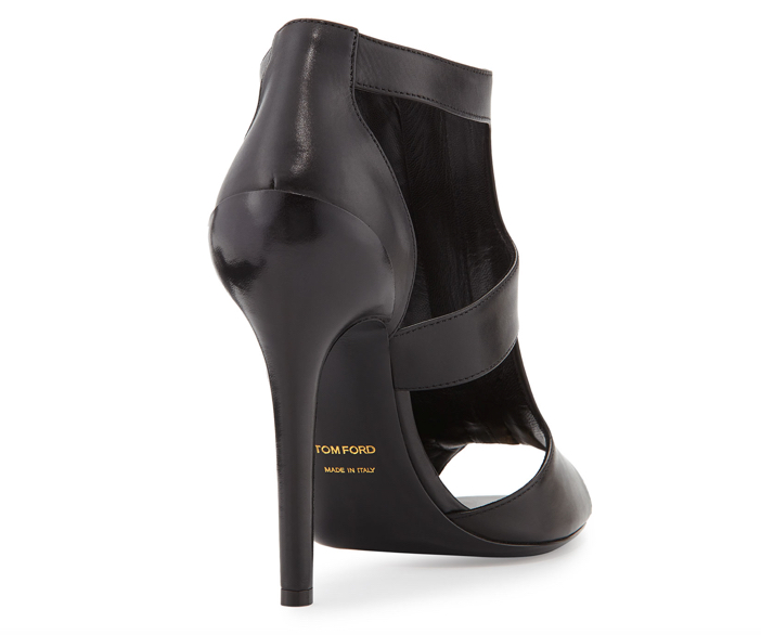 Tom Ford Cutout Leather Zip-Front Bootie - Back