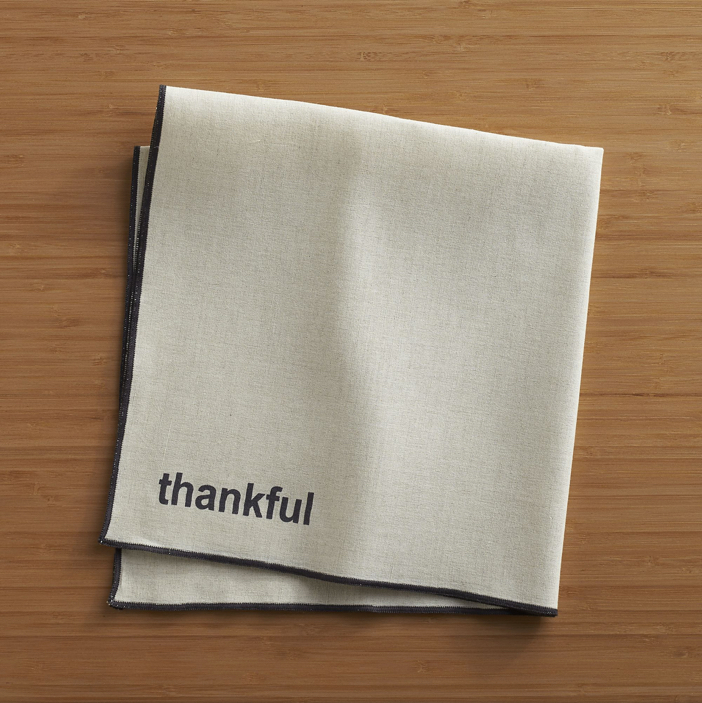 Crate and Barrel Thankful Napkin 2