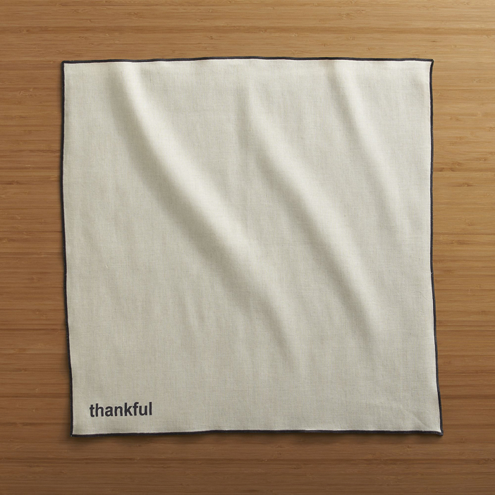 Crate and Barrel Thankful Napkin 3