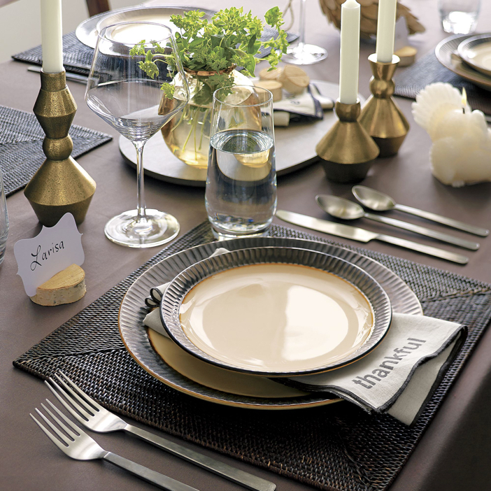 Crate and Barrel Thankful Napkin