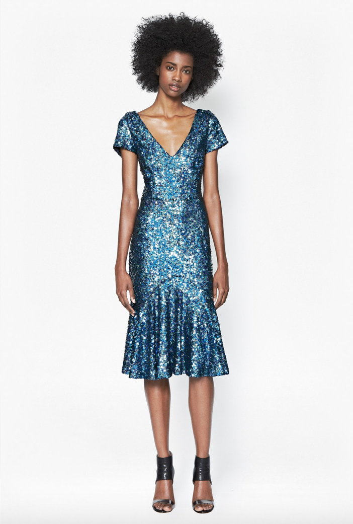 French Connection Sirius Sequined Dress
