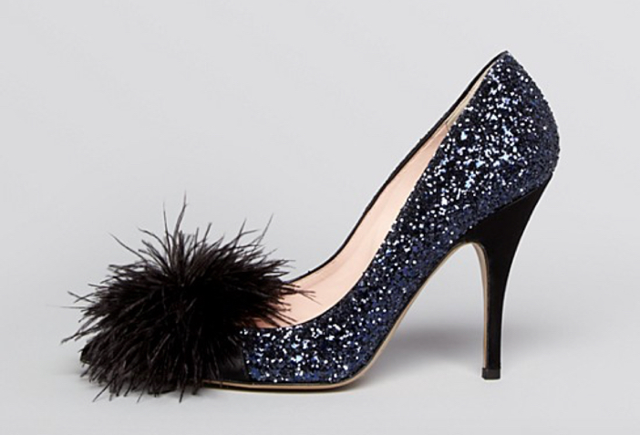 Kate Spade New York Lilo Glitter Feather High Heel 2