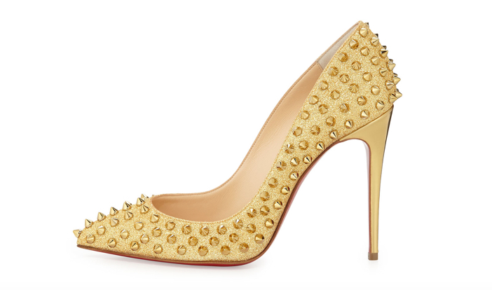 Christian Louboutin  Follies Spike-Studded Glitter Red Sole Pump 3