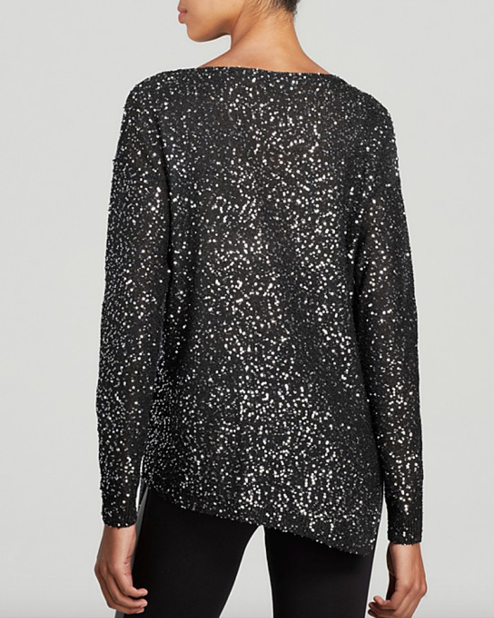 DKNYC Sequined Colorblock Long Sleeve Pullover 2