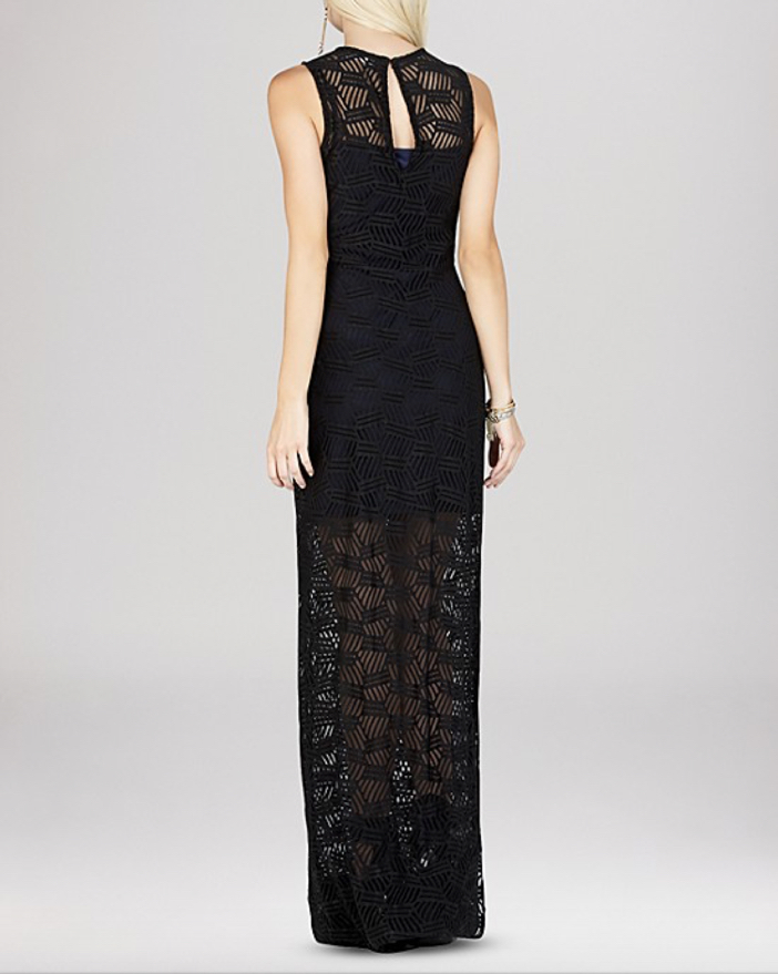 BCBGeneration Lace Overlay Maxi Dress 2