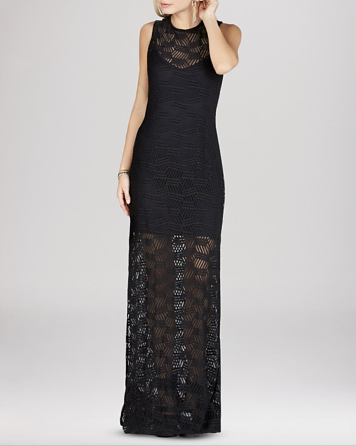 BCBGeneration Lace Overlay Maxi Dress