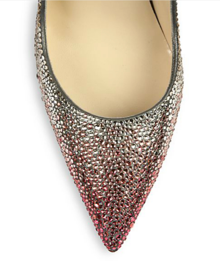 Christian Louboutin Ombré Crystal Leather Pumps 3