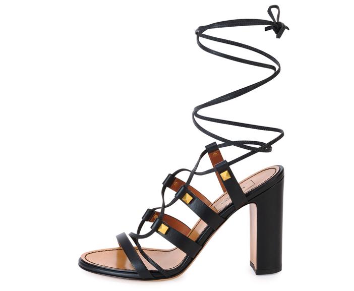 Valentino  Rockstud High-Heel Gladiator Sandal 2