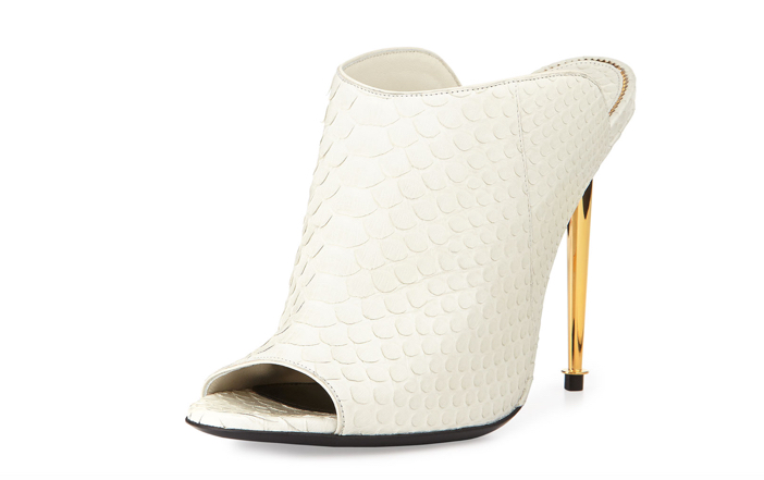 TOM FORD Open-Toe Python Mule