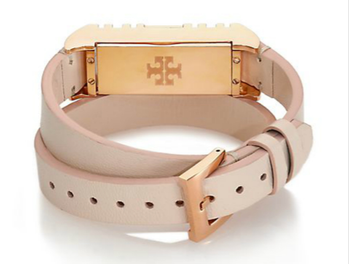 Tory Burch For Fitbit Leather Double-Wrap Bracelet 3