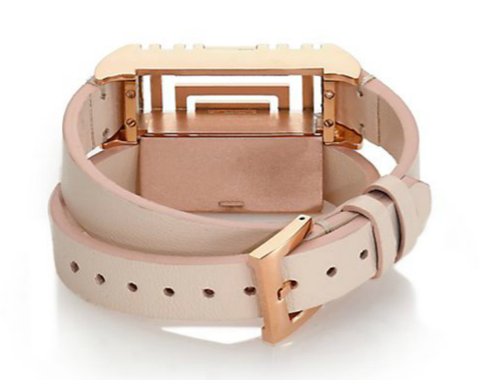 Tory Burch For Fitbit Leather Double-Wrap Bracelet 4