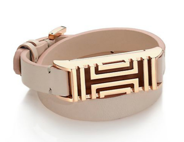 Tory Burch For Fitbit Leather Double-Wrap Bracelet