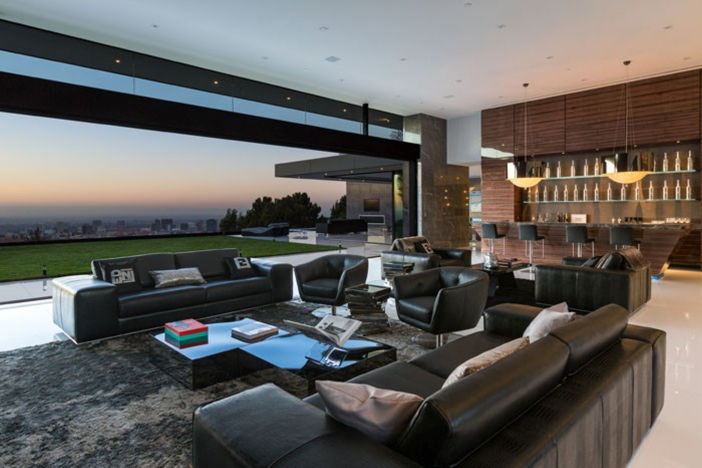 $55 Million Modern Masterpiece with Stunning Views in Los Angeles California 4