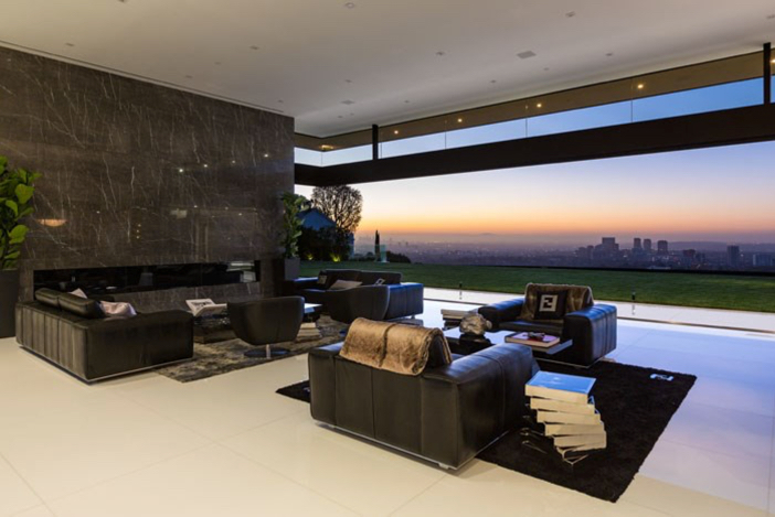 $55 Million Modern Masterpiece with Stunning Views in Los Angeles California 5
