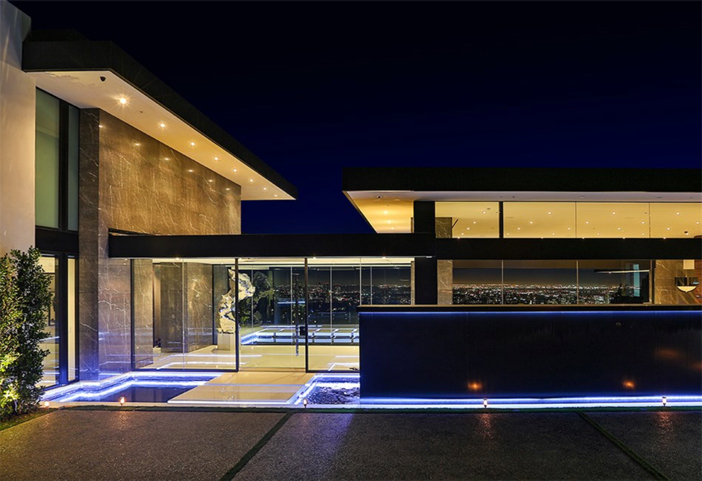 $55 Million Modern Masterpiece with Stunning Views in Los Angeles California