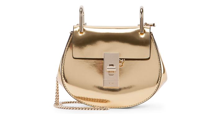 Chloe Drew Nano Mirror Leather Saddle Bag
