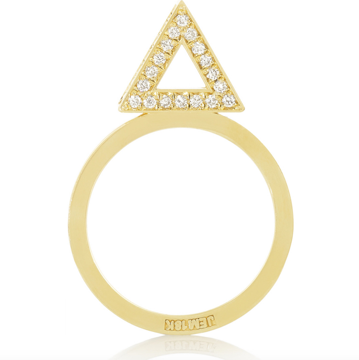 Jennifer Meyer 18-karat Gold Diamond Triangle Ring 4