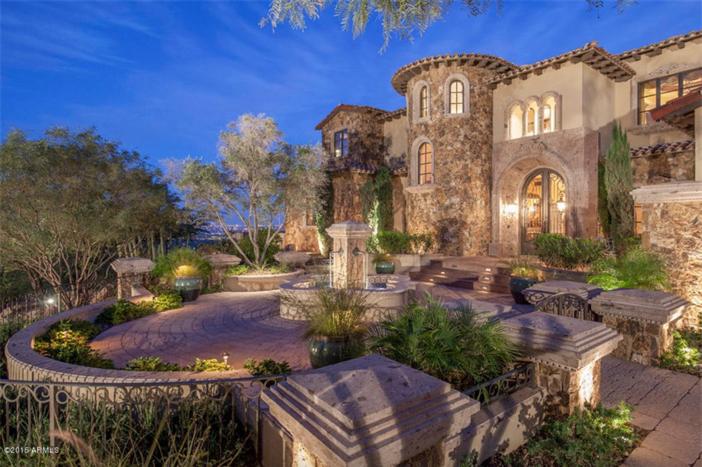 $5.5 Million Mediterranean European Villa in Paradise Valley Arizona