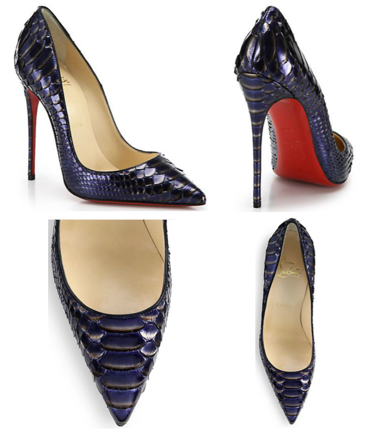 finest selection d3dfe 4a709 Shoe of the Day: Christian Louboutin So Kate Metallic Python ...