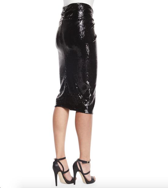 Donna Karan Sequined Twist-Knot Skirt 4
