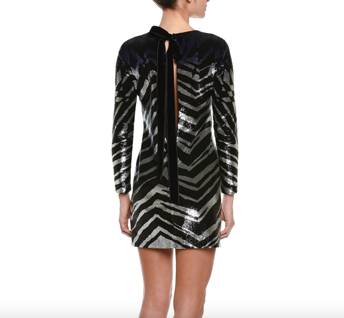 Emilio Pucci  Ombre Sequined Zebra-Striped Sheath Dress 2