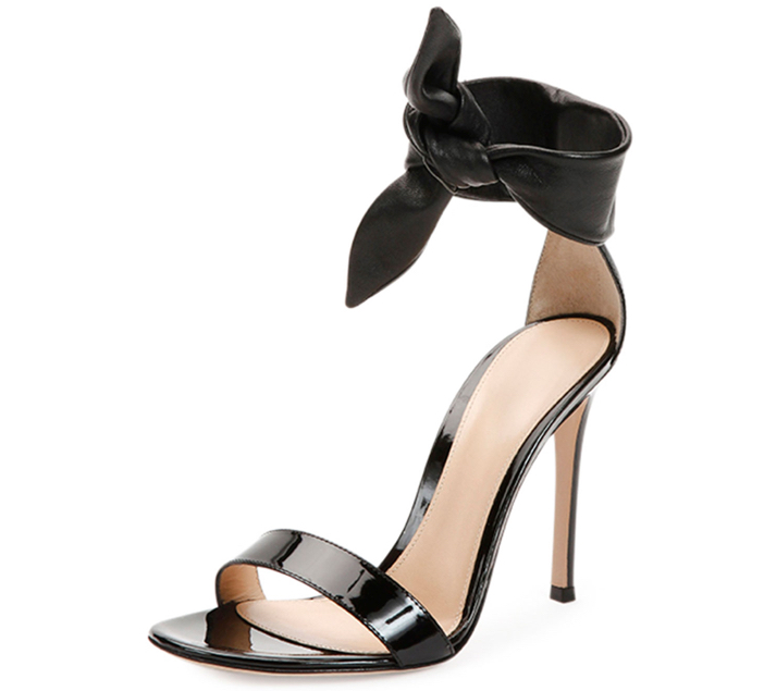 Gianvito Rossi  Knot-Front Double-Band Sandal