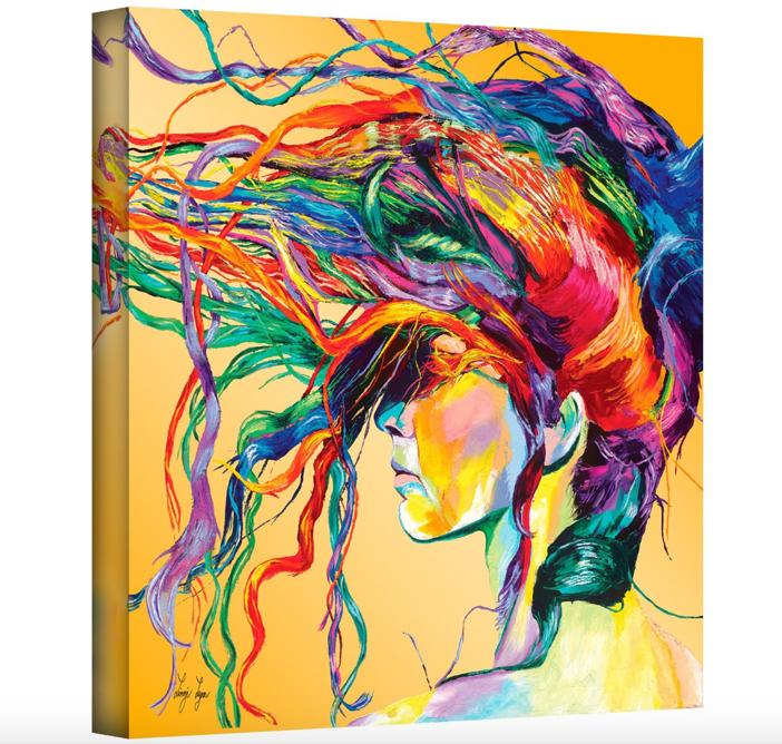 Linzi Lynn 'Windswept' Gallery-Wrapped Canvas Artwork