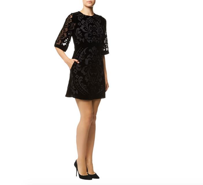 Needle & Thread Fleur Devore Velvet Dress 2
