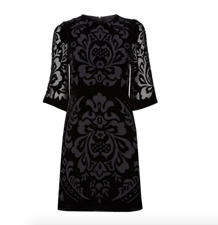 Needle & Thread Fleur Devore Velvet Dress 3