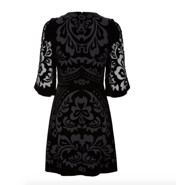 Needle & Thread Fleur Devore Velvet Dress 4