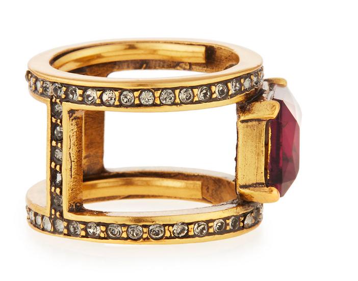Oscar de la Renta Octagon Crystal Band Ring 3