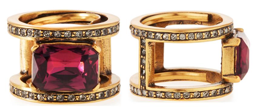 Oscar de la Renta Octagon Crystal Band Ring