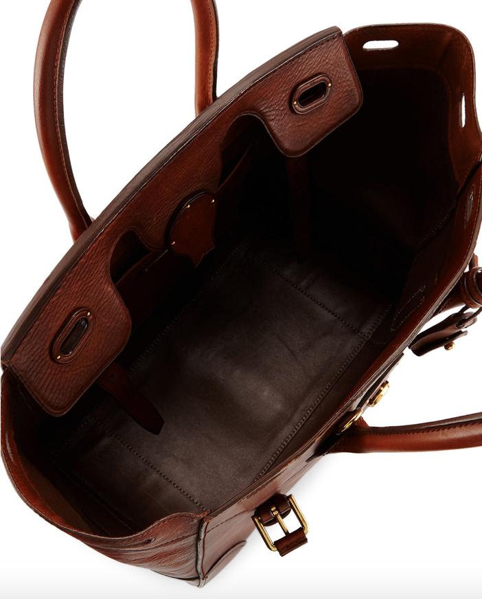 Ralph Lauren Ricky 33 Soft Vachetta Satchel Bag 2