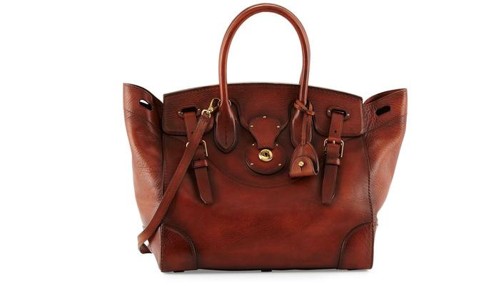 Ralph Lauren Ricky 33 Soft Vachetta Satchel Bag
