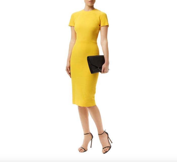 Victoria Beckham T-Shirt Fit Pencil Dress
