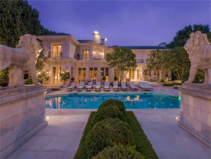 Estate of the day 39 5 million elegant mansion in for Expensive homes for sale in california