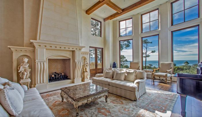 $9.9 Million European Style Ocean Villa in Pebble Beach California 6
