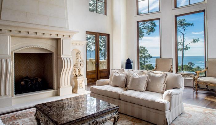 $9.9 Million European Style Ocean Villa in Pebble Beach California 9