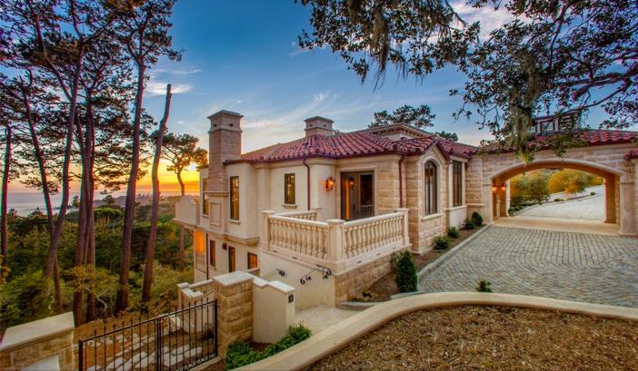 $9.9 Million European Style Ocean Villa in Pebble Beach California