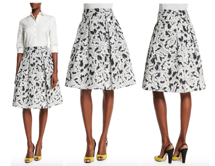 Carolina Herrera Parrot Tulip Fil Coupe Skirt