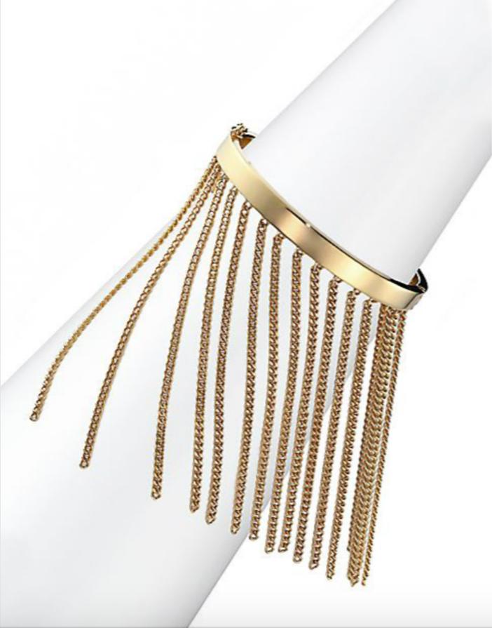 Chloé Delphine Fringe Chain Bangle Bracelet 2