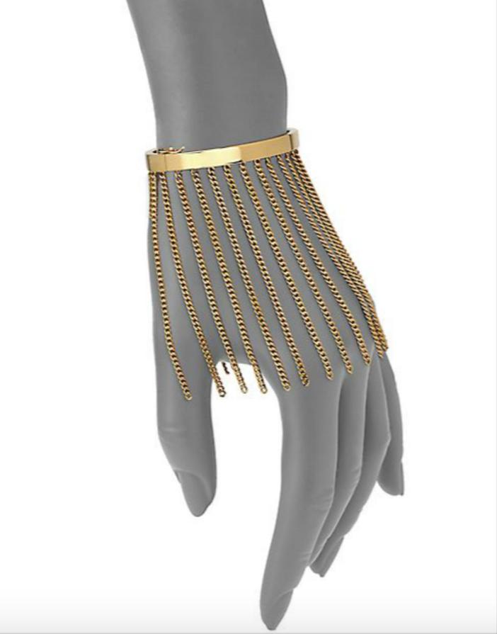 Chloé Delphine Fringe Chain Bangle Bracelet 3