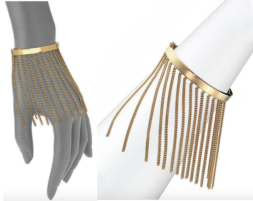 Chloé Delphine Fringe Chain Bangle Bracelet