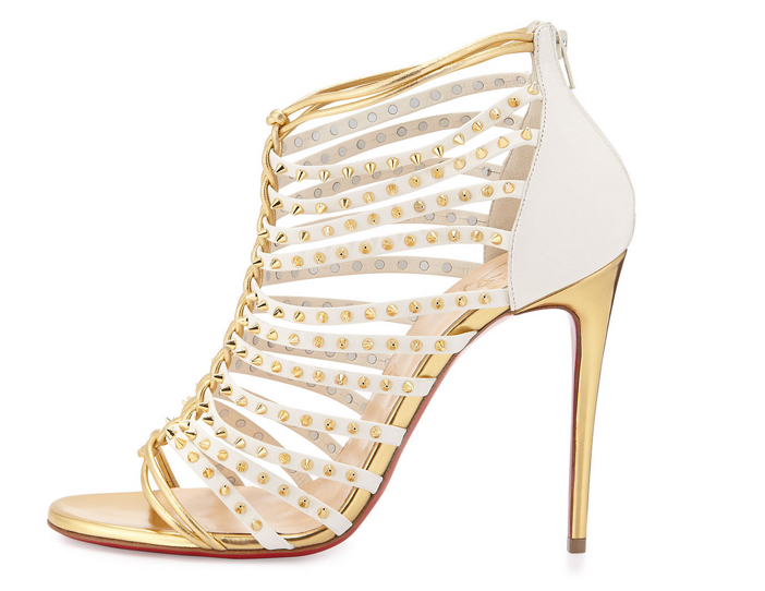 Christian Louboutin Millaclou Studded-Cage Red Sole Sandal 2