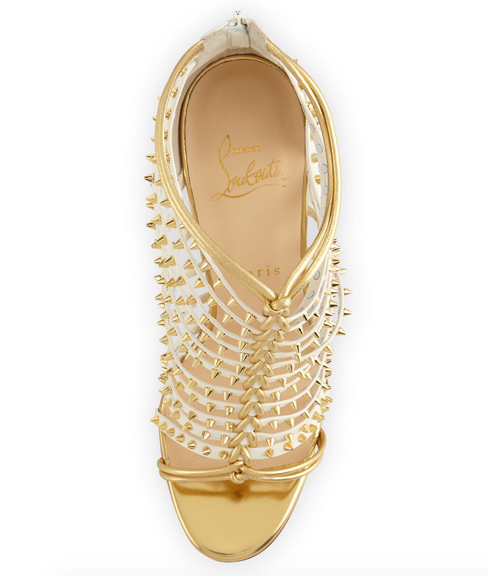 Christian Louboutin Millaclou Studded-Cage Red Sole Sandal 4