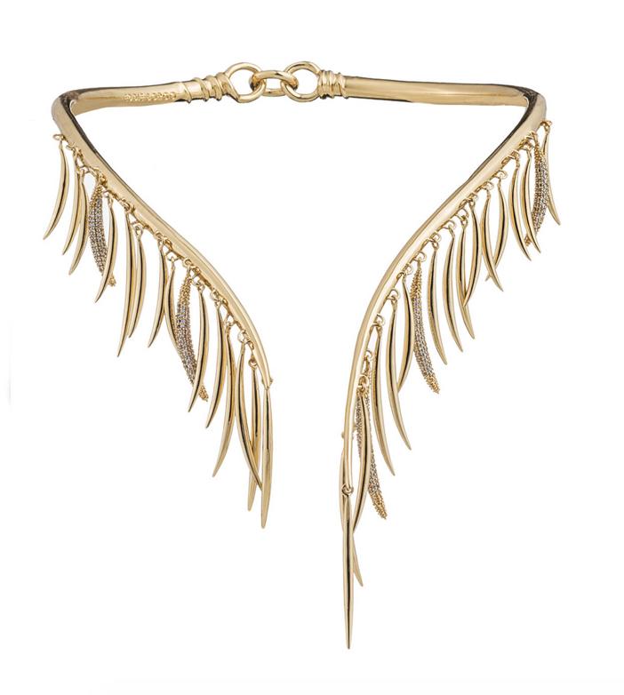 Eddie Borgo Prickle Collar Necklace with Crystals