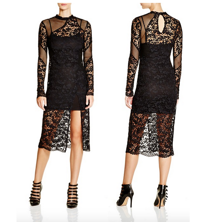 French Connection Lace Illusion Dress
