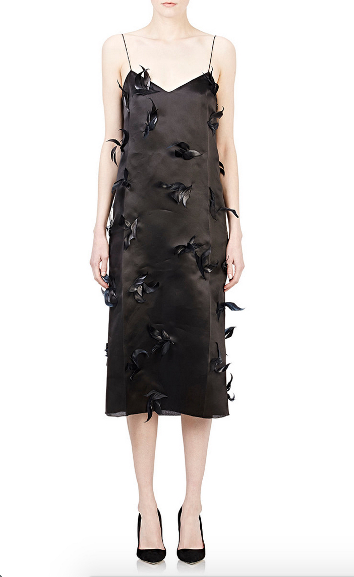 NINA RICCI Feather-Embellished Cocktail Dress 2