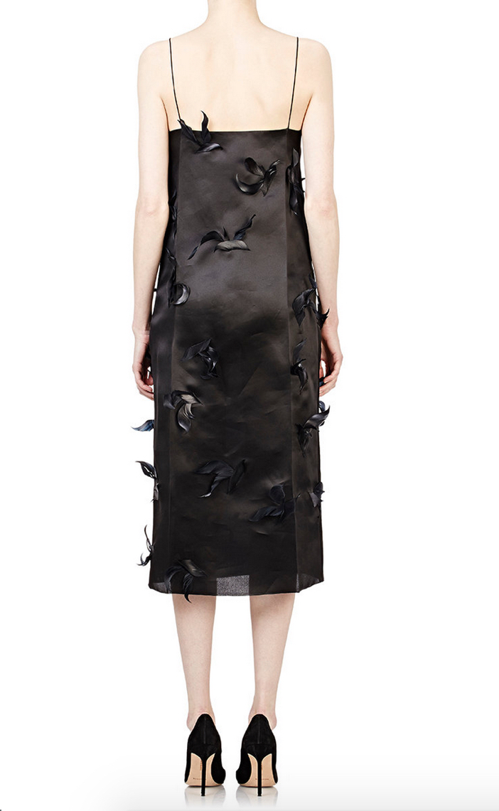 NINA RICCI Feather-Embellished Cocktail Dress 3