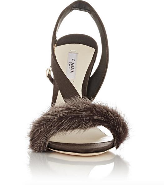 Olgana L'Amazone Asymmetric Slingback Sandals 4